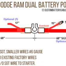 Dodge - 1994-1998 Ram w/5.9L, Dual Battery Positive RAM cable