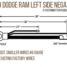 Dodge - 1998-2002 Ram 2500/3500, Left (driver) Side Negative MIL cable