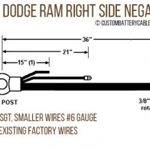 Dodge - 1998-2002 Ram 2500/3500, Right Side Negative MIL cable